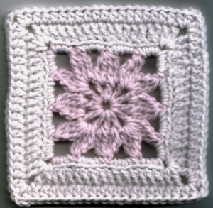 Little Dahlia Crochet Square