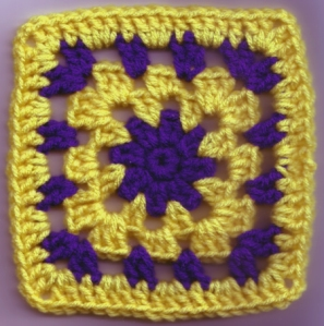 Yellow and Purple Random Square