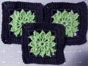 3 green Dahlias