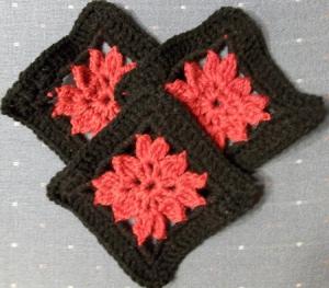 Three Strawberry Dahlias