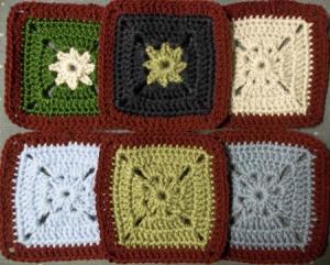 Six more camo squares