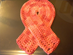 Cancer Ribbon Dishcloth